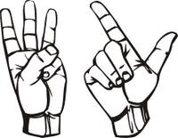 2 et 3 avec les mains