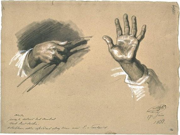 Montfort - Etude de mains