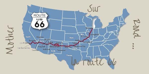 La route 66 de Chicago à Los Angeles