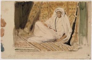 Jeune Arabe dans son appartement