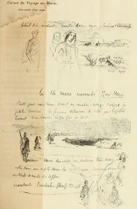 Page du journal de Delacroix