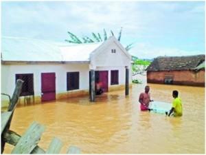 debut des inondations a Tananarive