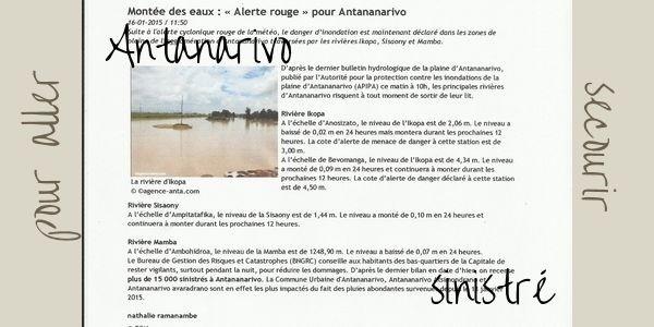 Au secours d'Antananarivo sinistré