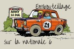 Embouteillage sur la Nationale 6